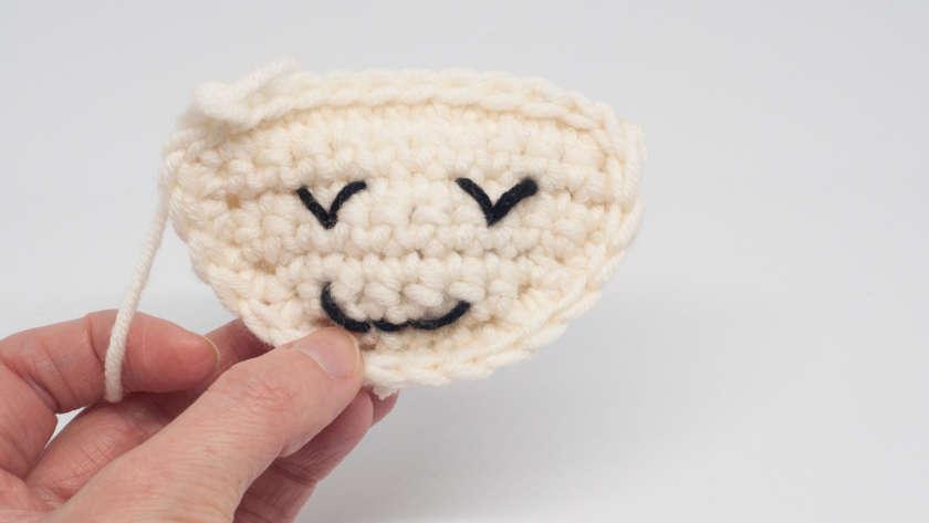 Free crochet pattern for a ragdoll lamb - Sverre the Lamb - Yarnhild.com