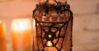Spider jar cozy