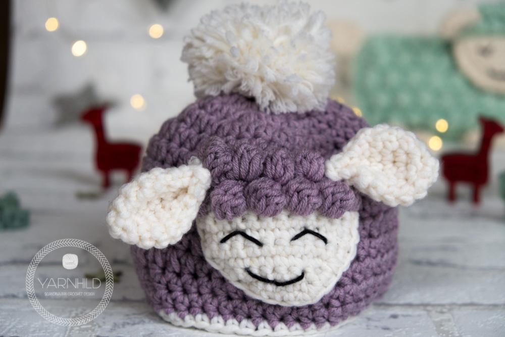 Crochet Baby Hat Sverre The Lamb Free Pattern On Yarnhild