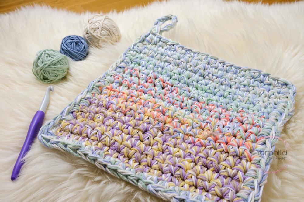 Scrap Yarn Dishcloth Use Up Leftover Yarn Yarnhild