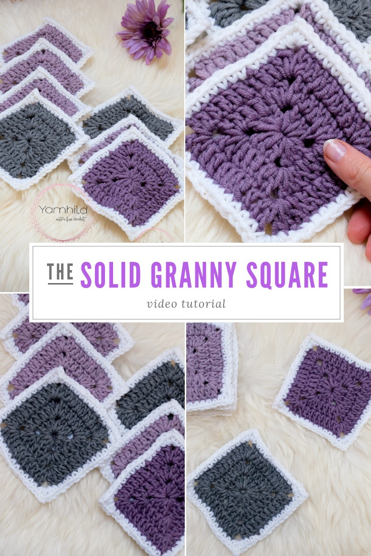 Solid Granny Square How To Crochet The Solid Granny Square Video