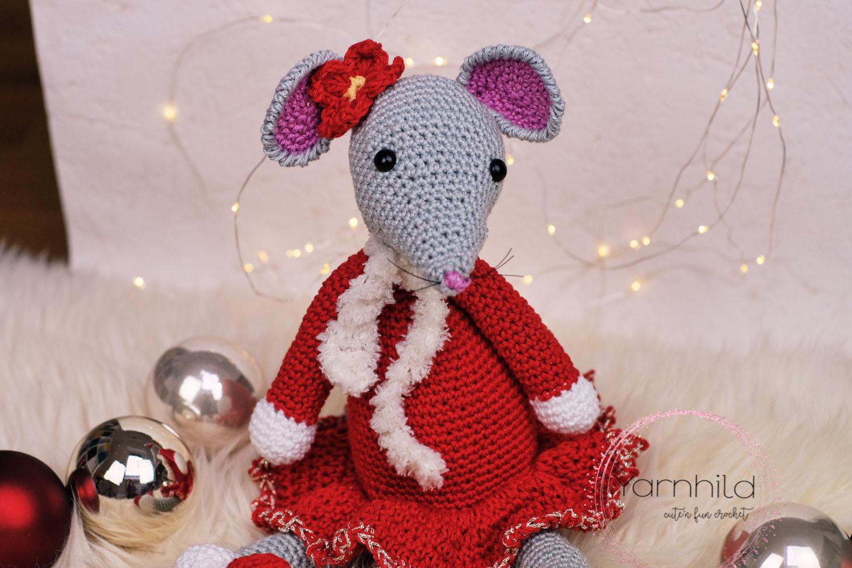 Die Weihnachtsmaus Lilly Eine Süße Maus Für Weihnachten Häkeln