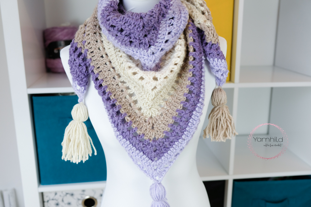 Lavender Delight - Crochet shawl pattern — free crochet