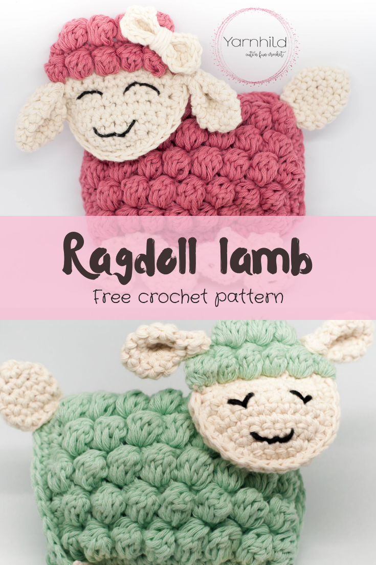 Free And Easy Crochet Pattern For A Ragdoll Lamb Sverre The Lamb
