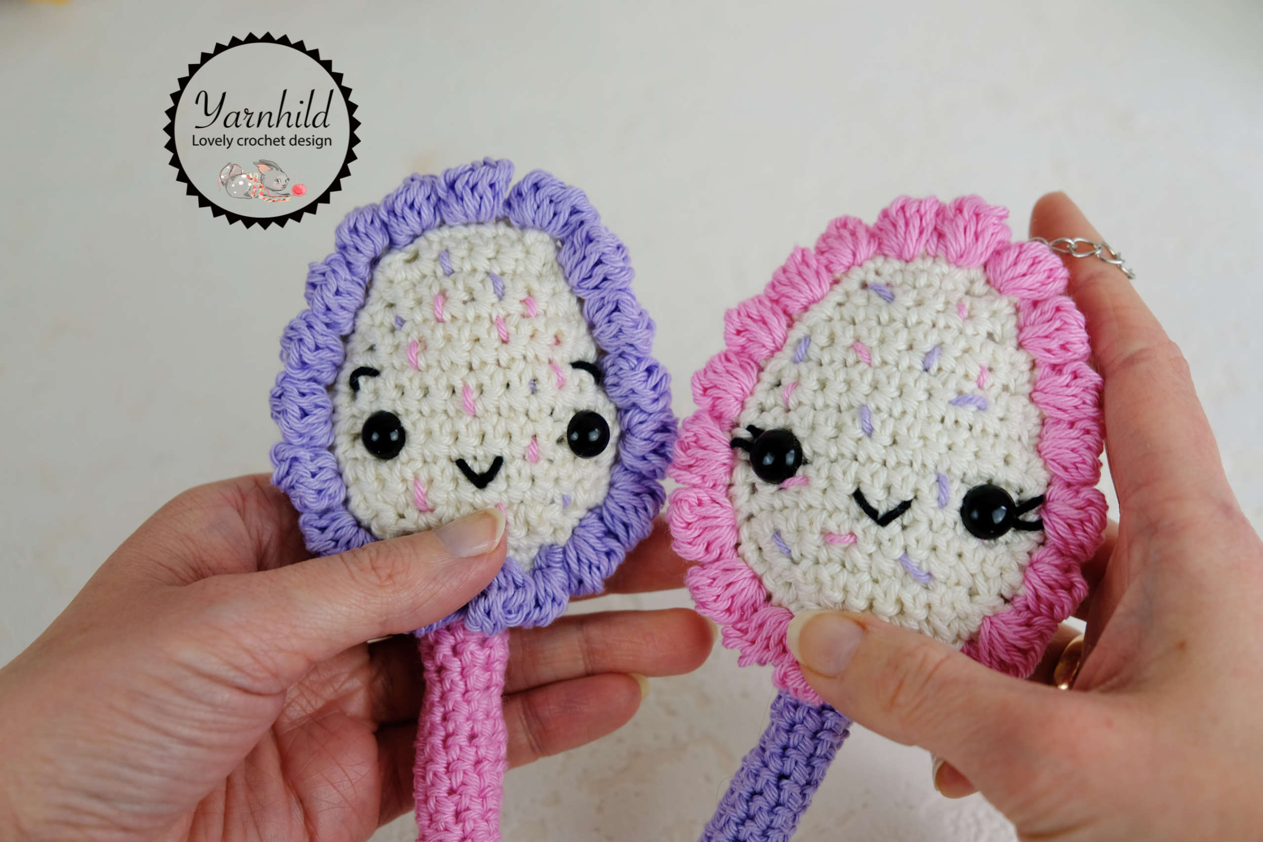 Cute Amigurumi Keychains Free Crochet Patterns | 1707x2560