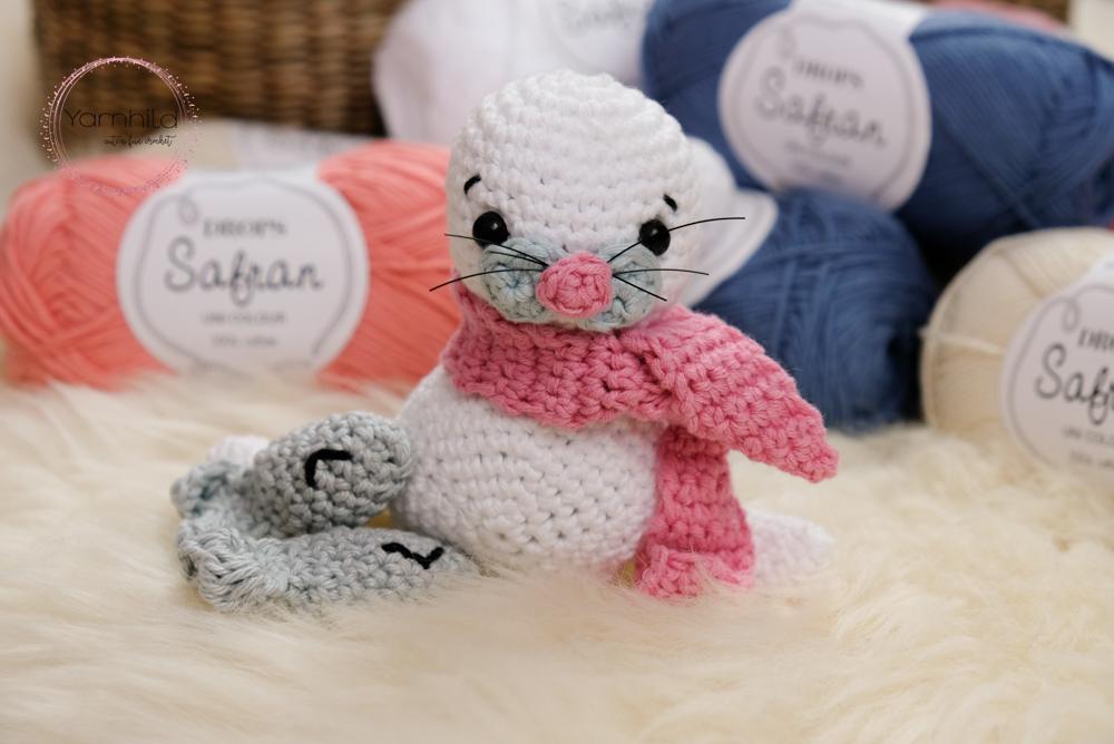 White seal crochet pattern sea animal stuffed animal baby | Etsy | 668x1000