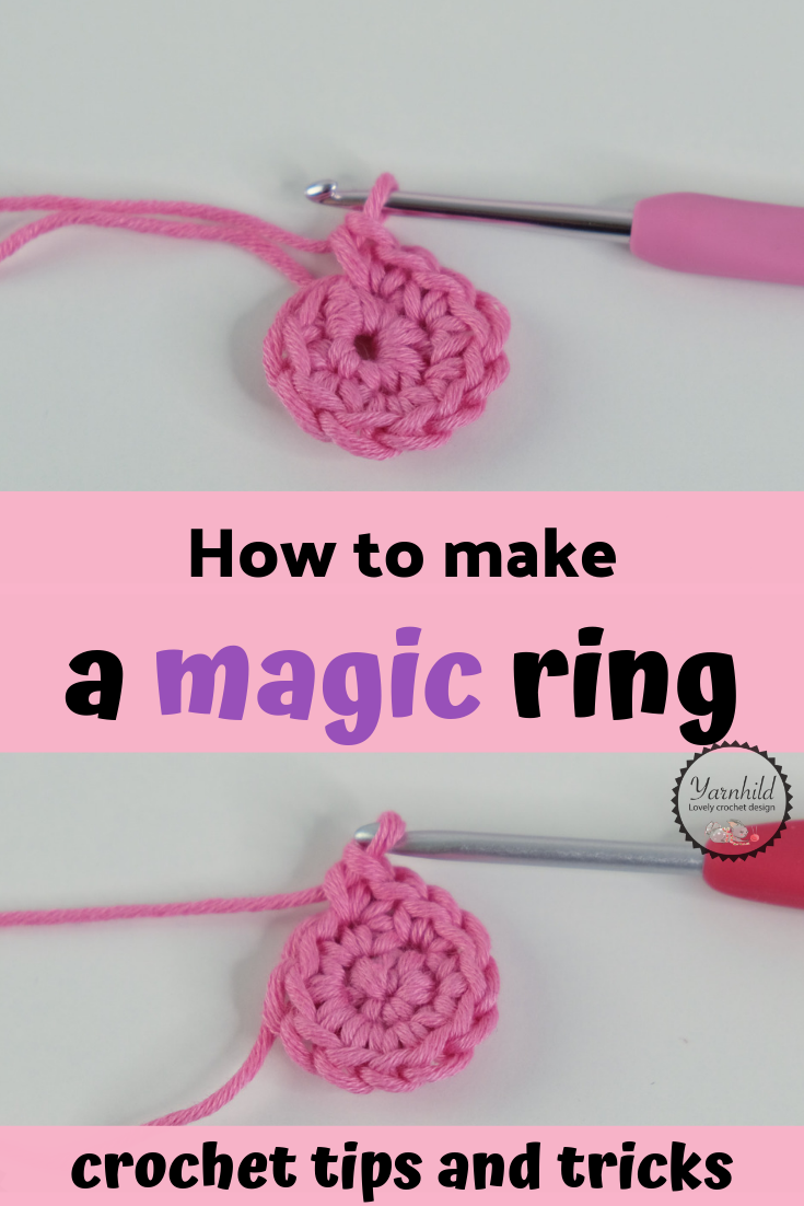 Crochet For Beginners: How to Make a Magic Ring - Pretty In Crochet | 1102x735
