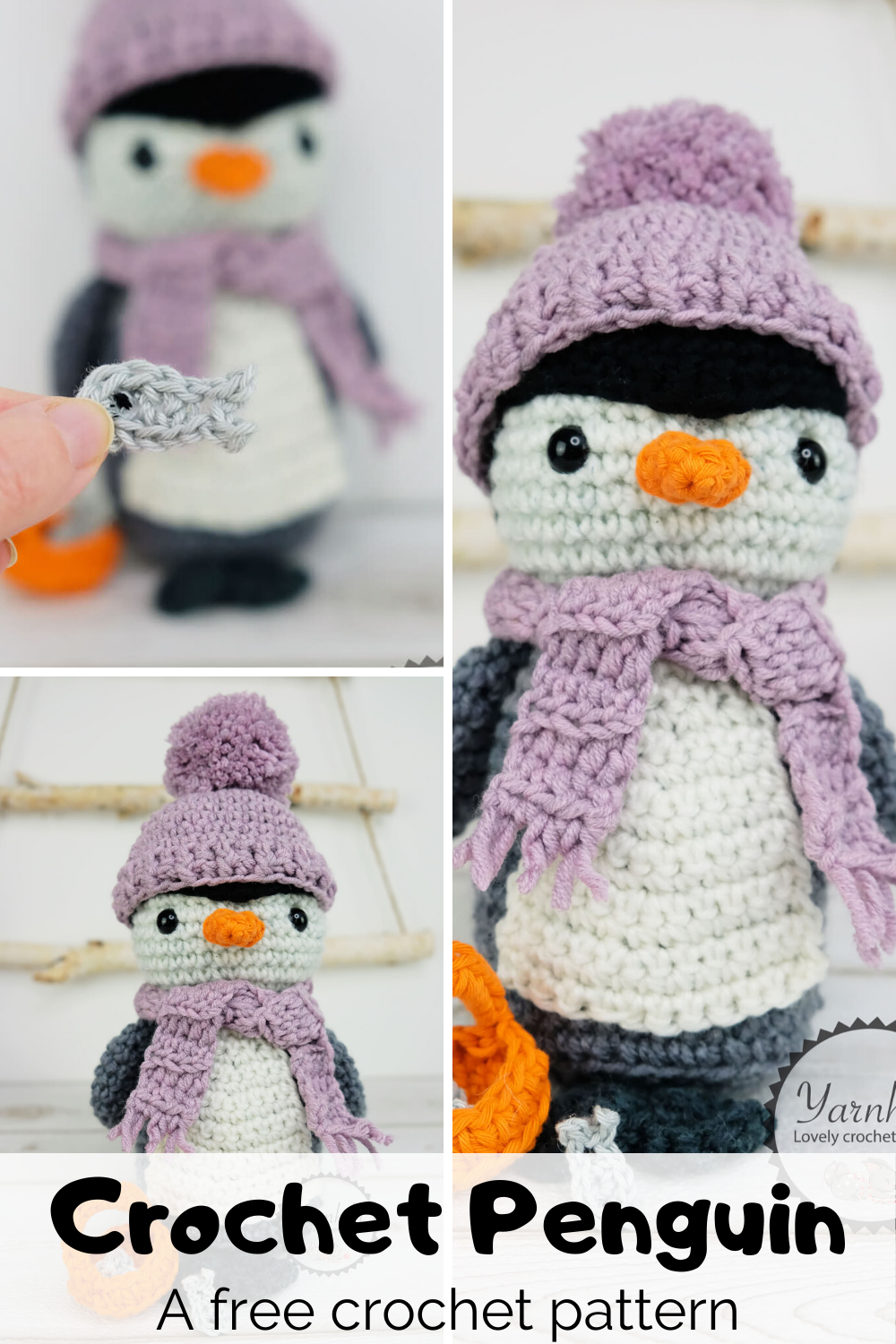 Crochet an amgurumi penguin - Easy and cute crochet penguin pattern | 1500x1000