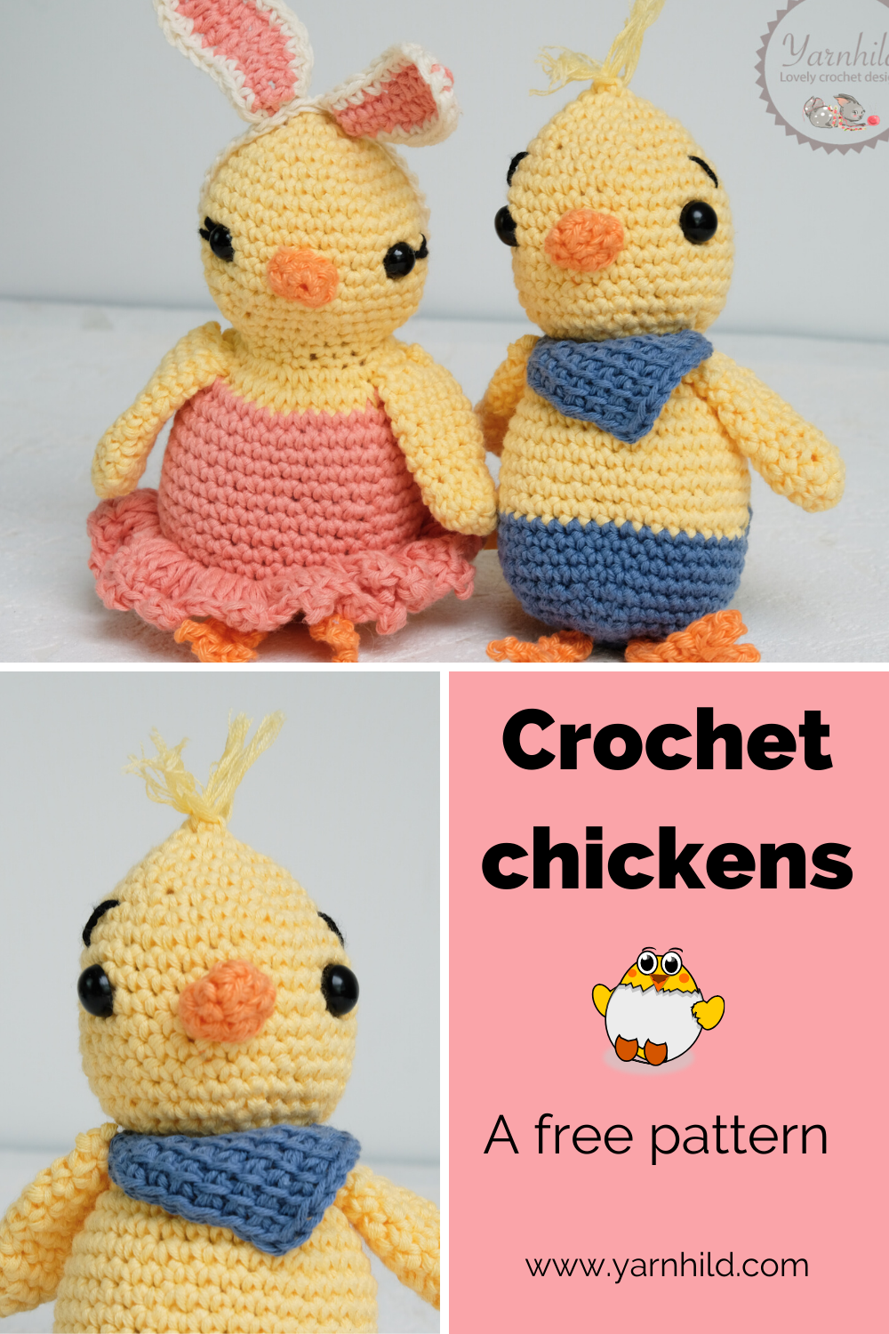 Baby Chick Amigurumi - Free Pattern | Craft Passion | 1500x1000