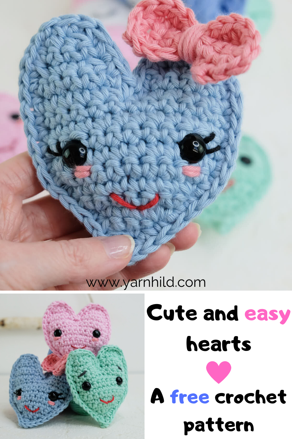 free pattern: little hearts! - a creative being | 1500x1000