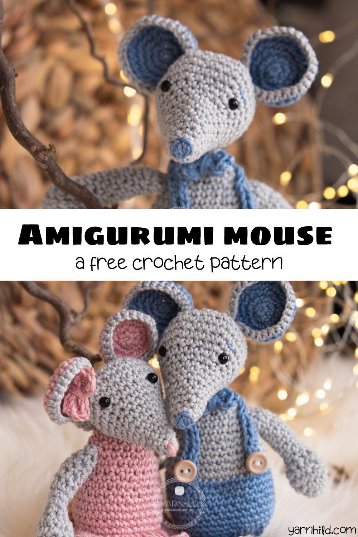 Mr. Jingles e Gas christmas amigurumi mouse crochet free pattern ... | 1500x1000